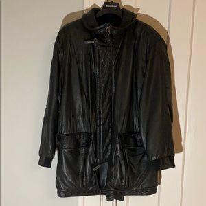 ✅ BOSS HUGO Boss Genuine Lambskin Leather Coat 54